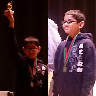 Sowman Choudhury is a finalist of the Citywide Spelling Bee Championship