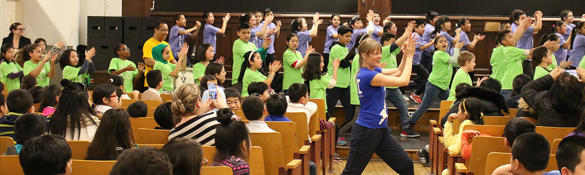 4th Grade Students learn Dance with Jacques d'Amboise's National Dance Institute