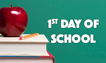First day of school for students 09-13-2021