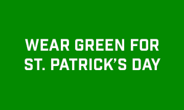 Wear Green for St. Patrick's Day